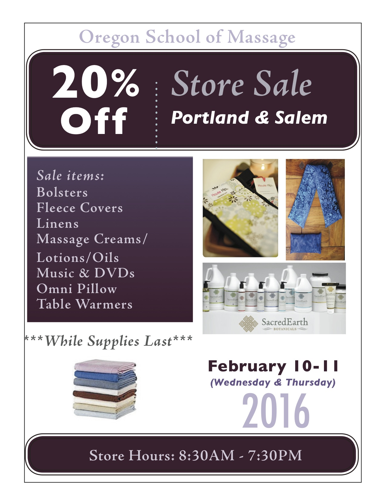 2016 Winter Store Sale